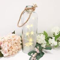 LED XL Stars Glass Lantern